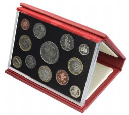 2007 Proof set red Leather deluxe for sale